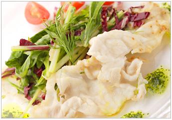 Pork loin meat shabu-shab salad sesame seed dressing