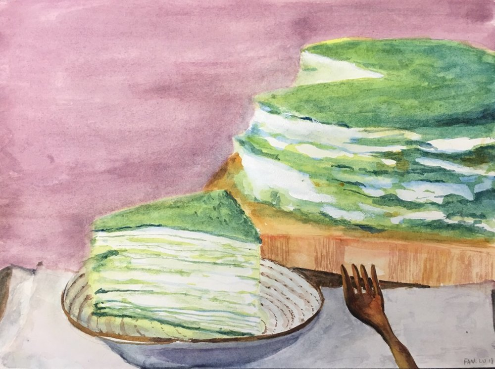 green tea cake- fan lu-watercolor.jpeg