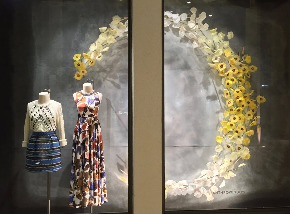Spring Window Display 2016 for Anthropolgie