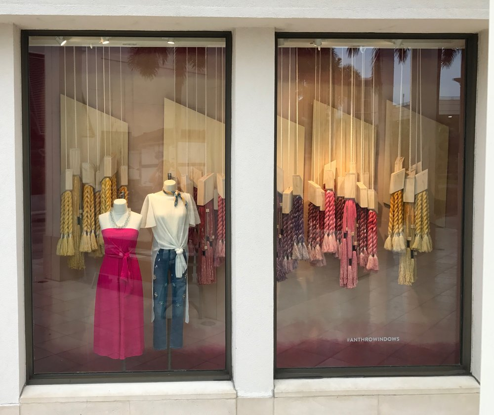 Summer Window Display 2017 for Anthropologie