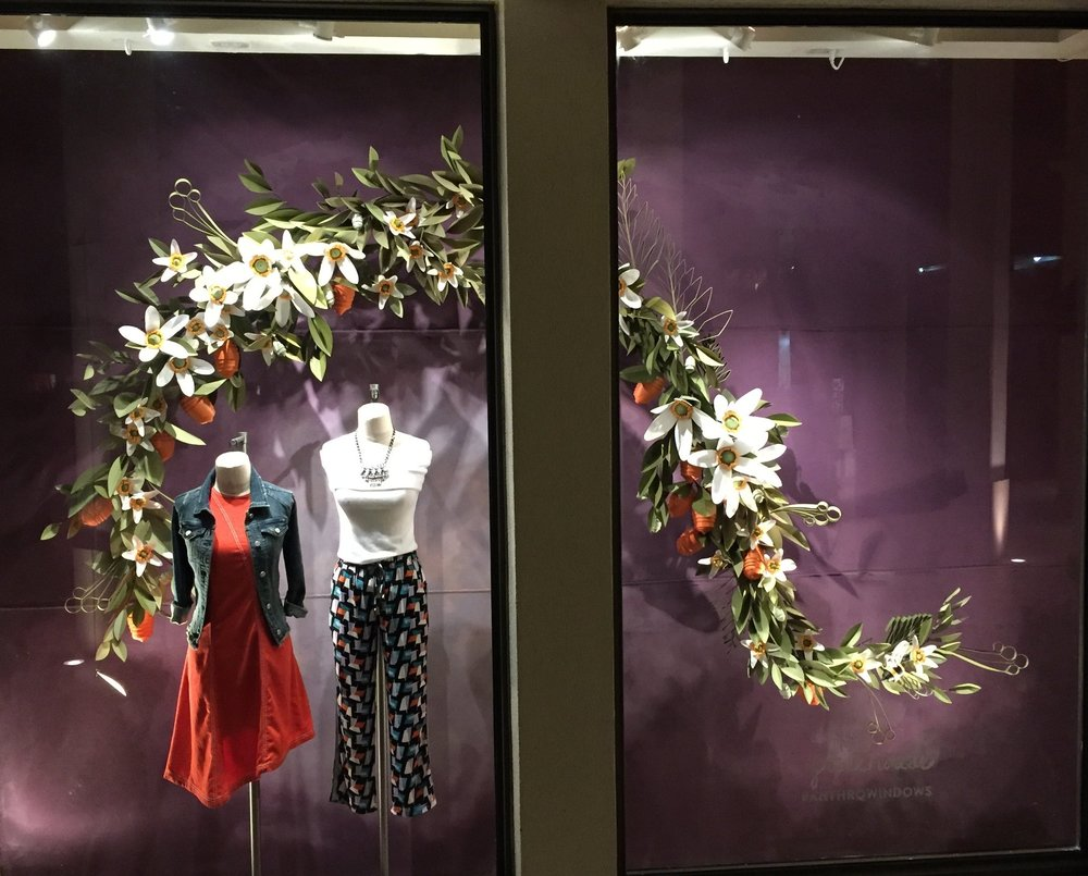Spring Window Display 2017 for Anthropologie
