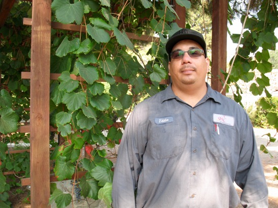 Eddie Munguia, Horticultural Lab Technician South Bay Botanic Garden – Photo by Susan Krzywicki