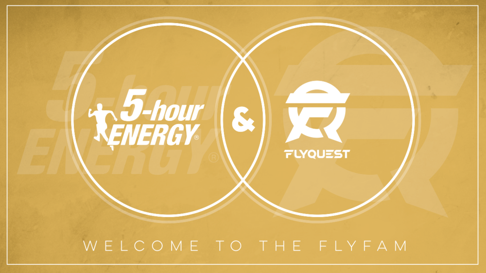 FLYQUEST ANNOUNCES 5-HOUR ENERGY AS FOUNDATIONAL SPONSOR - Monday, January 15th, 2018New York, NY – FlyQuest Sports, an esports organization owned by Fortress Investment Group co-founder and Milwaukee Bucks co-owner Wes Edens, announced today that 5-hour ENERGY will join the team as the Official Energy Shot of FlyQuest. 5-hour ENERGY will be present across the FlyQuest community...
