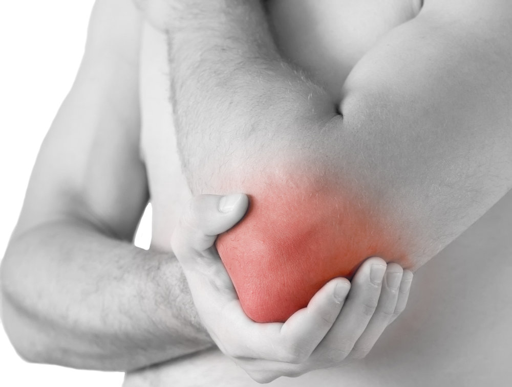 Elbow pain from tennis elbow