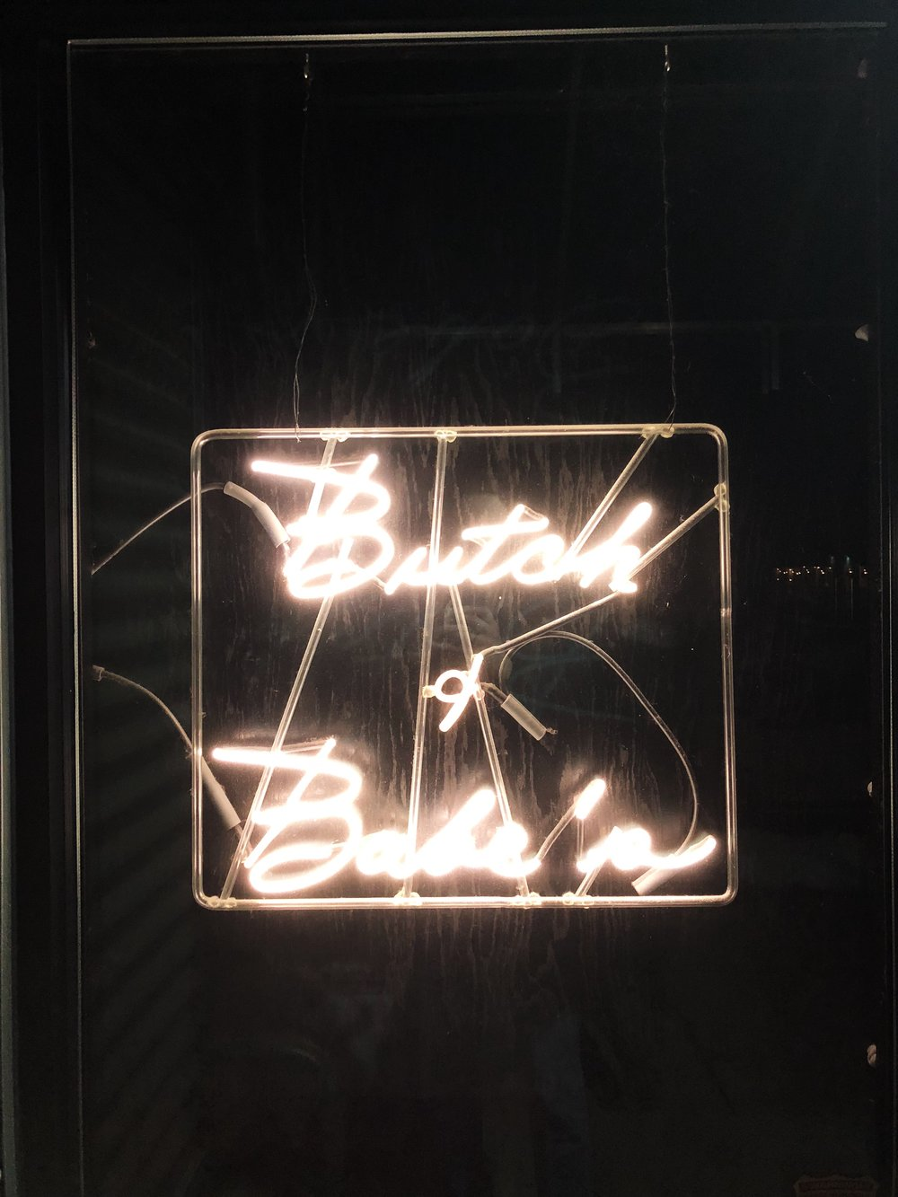 I mean, it's a neon sign, fine, but I thought it was chic.