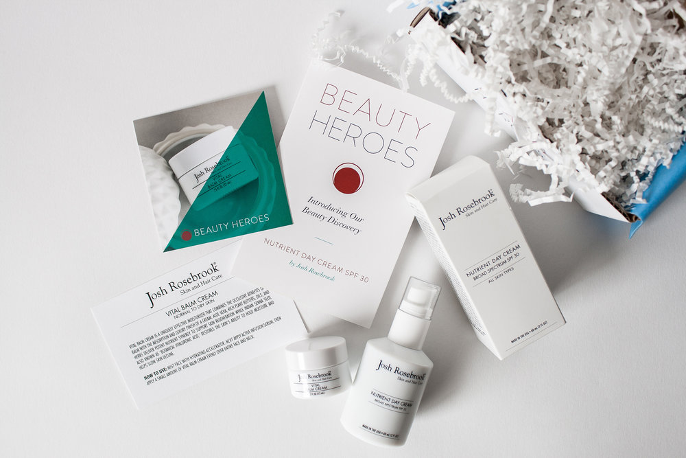 Beauty Heroes Review - July Box - Josh Rosebrook Beauty Vital Balm Cream and Nutrient Day Cream SPF 30