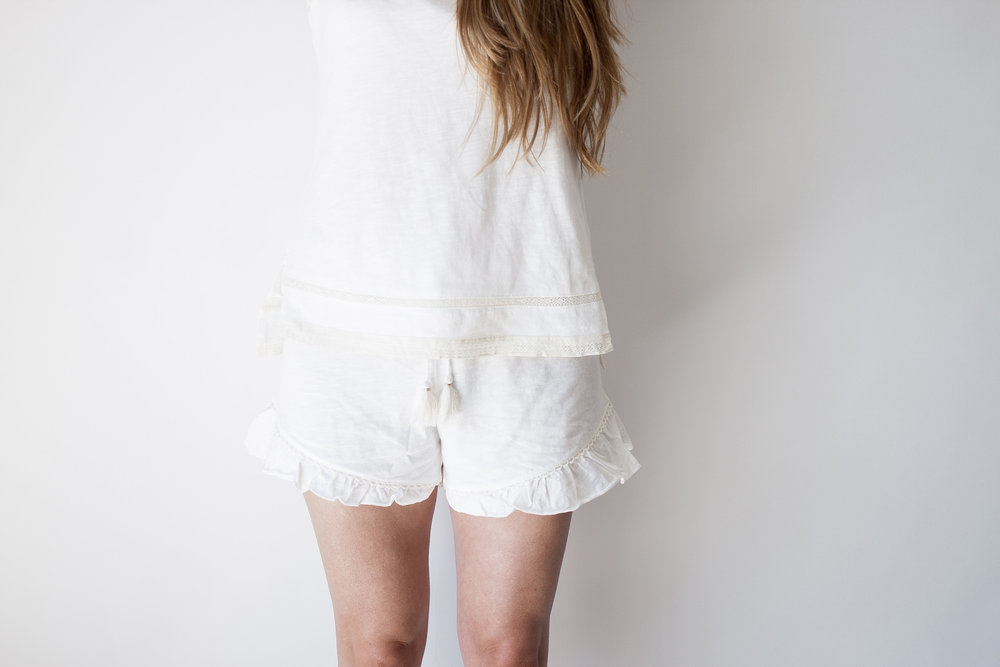 Tips to Get Through Warm Summer Nights: white airy sleepwear,  shower, drink, stillness, magnesium tea
