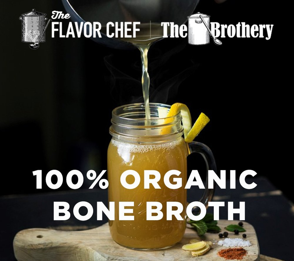 THE FLAVOR CHEF    Nourishing Organic Grass-Fed Chicken & Beef Bone Broth
