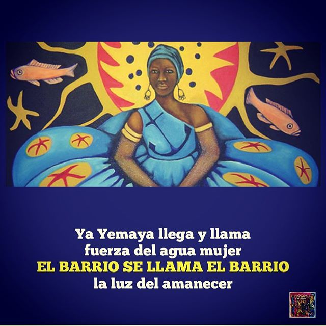 Yemaya is a water and life-giving diety of the Yoruba religion. She is the mother of all orishas. She is worshipped in many countries within the Americas. Yemaya can be seen in Brazil, Puerto Rico, Cuba and The Dominican Republic to name only a few. Yemaya's presence can be felt here in El Barrio too. For the last forty years El Taller has celebrated the beautiful music and art that has sprung from the African diaspora and the incredible contributions that Afrolatinos have made to Latin American culture.  #40yearsofeltaller #40yearstaller #yemaya #orishas #santeria #candomblé #brazil #puertorico #cuba #dominicanrepublic #africandiaspora #domingoespiritual #spirituality