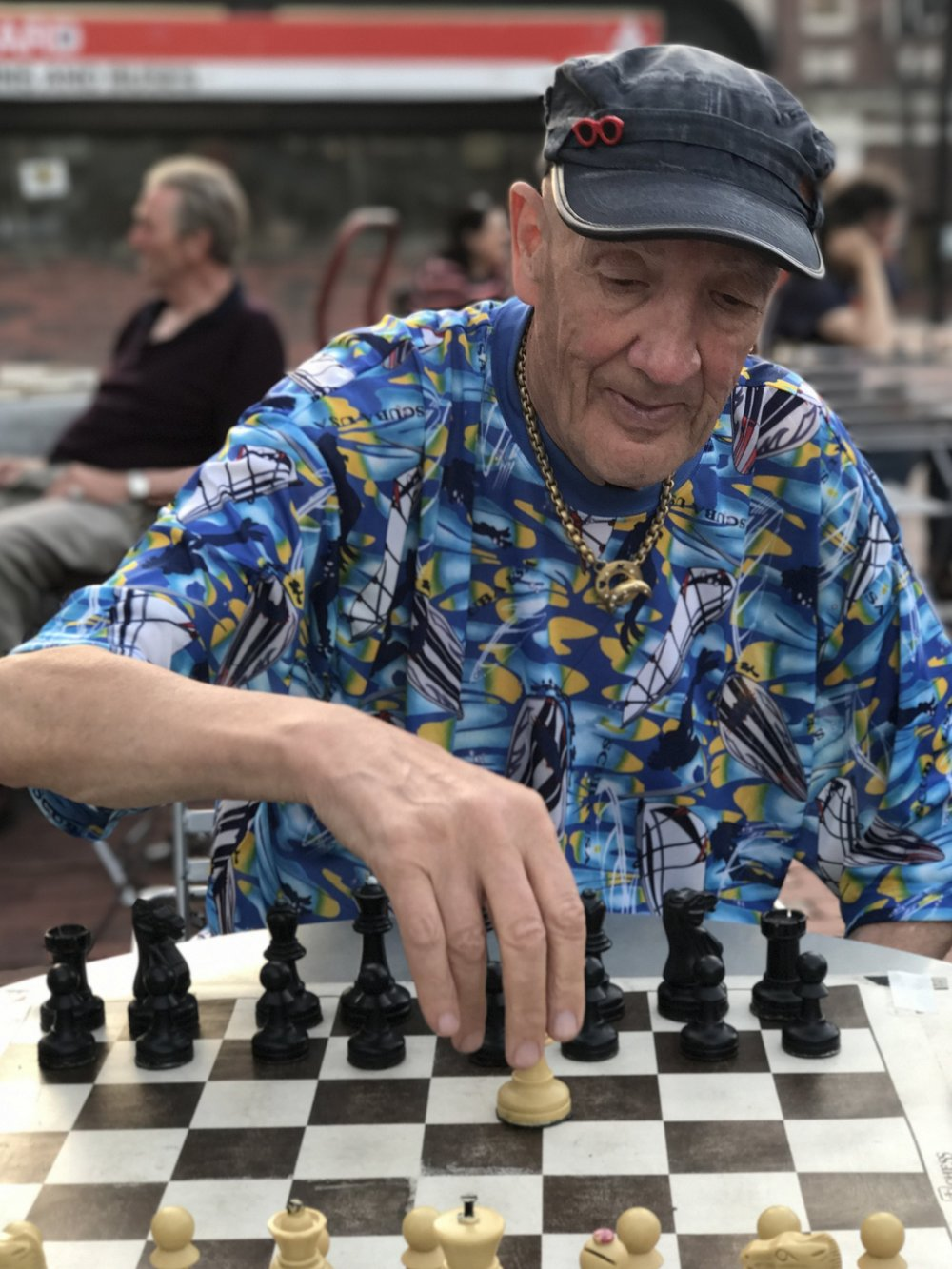 Chess Player in Harvard Square