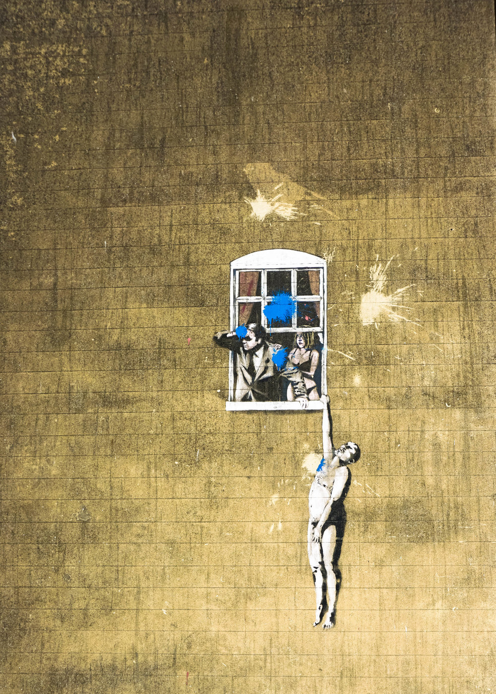 "Banksy's ""Well-Hung Lover"""