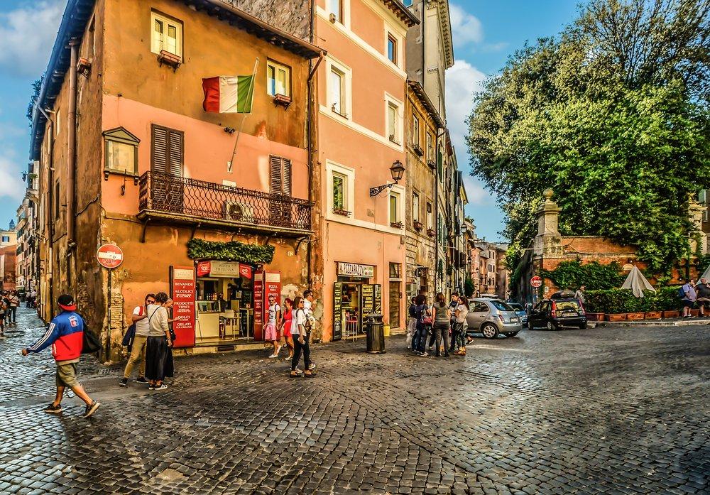 Trendy Trastevere Neighborhood in Rome