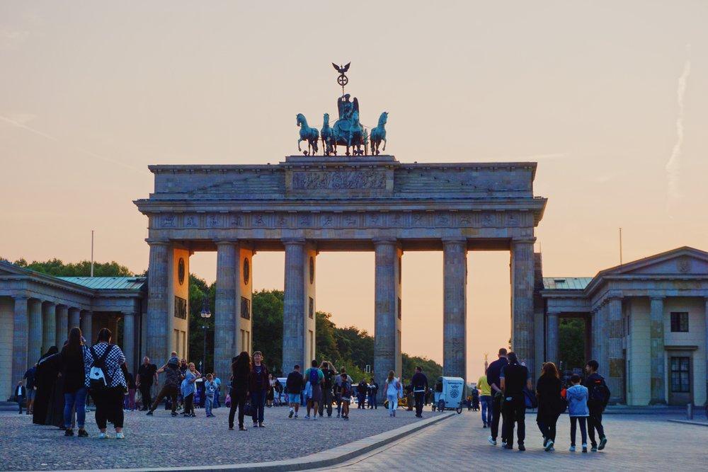 Bradenburg Gate at sunset