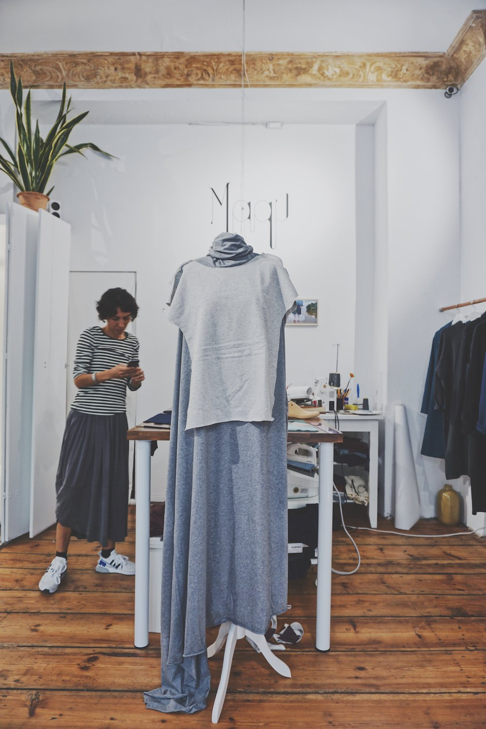 In fashion shop and studio Berlin - minimalist fashion