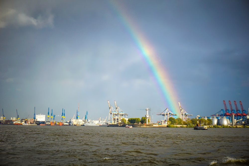 Rainbow on the River Elbe