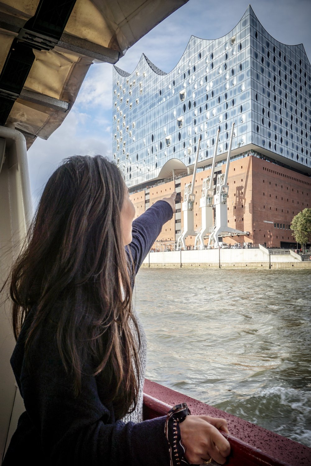 View of the Elbphilharmonie from our boat!