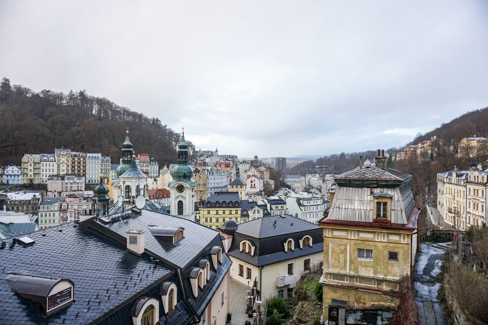 View of Karlovy Vary from Hotel Prezident