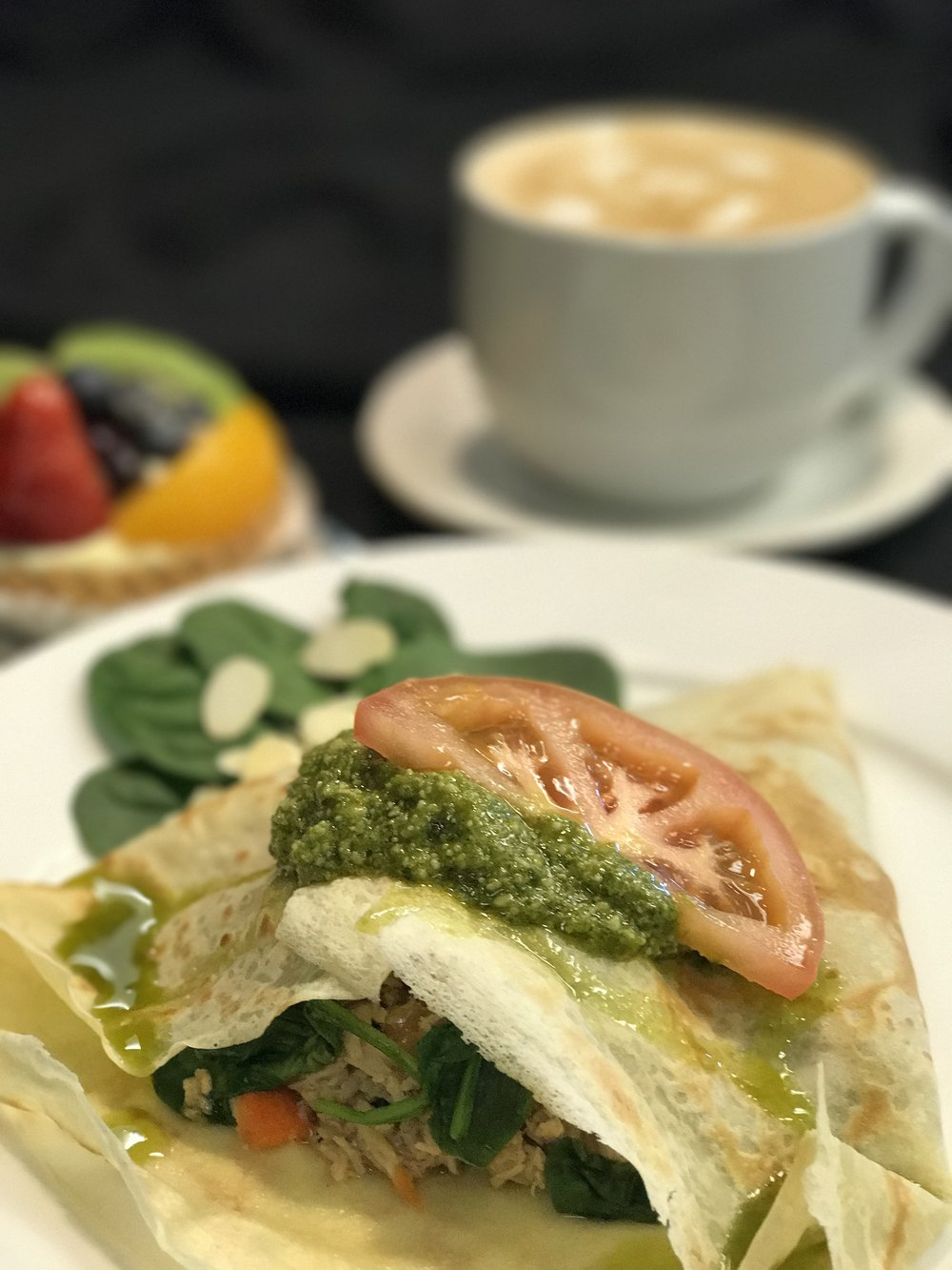 Pesto Chicken Crepe