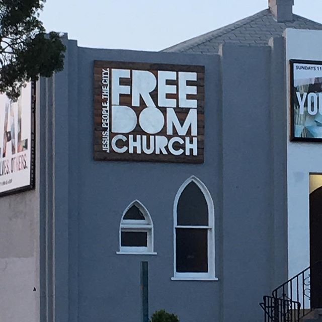 "This church is giving away free ""dom""."