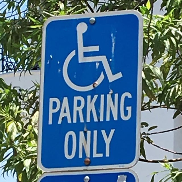 Wheelchair parking only.