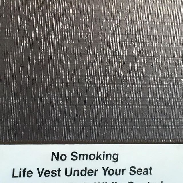 Bogus, you can't even smoke your own life vest under your own seat anymore.