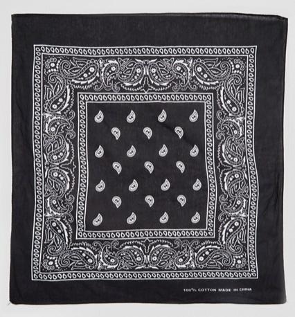 ASOS Reclaimed Vintage Paisley Bandana Black