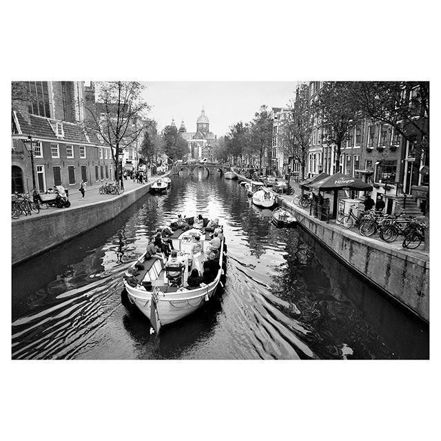Classic shot of #Amsterdam. Or maybe a cliche. #35mm #film #blackandwhite
