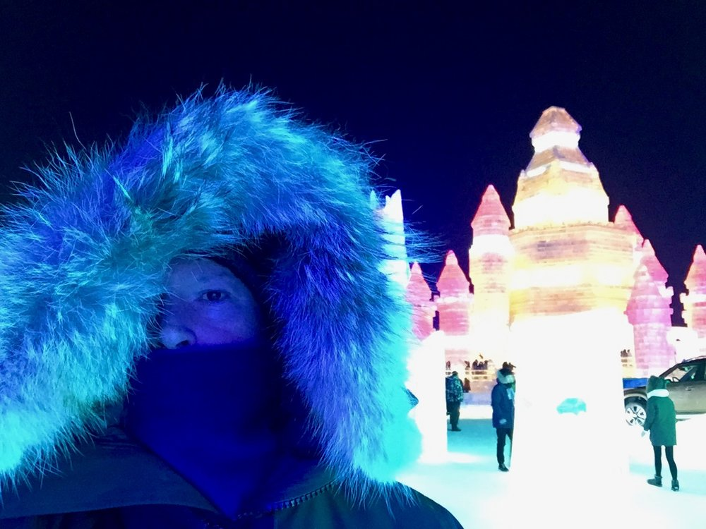 The author on location in Harbin