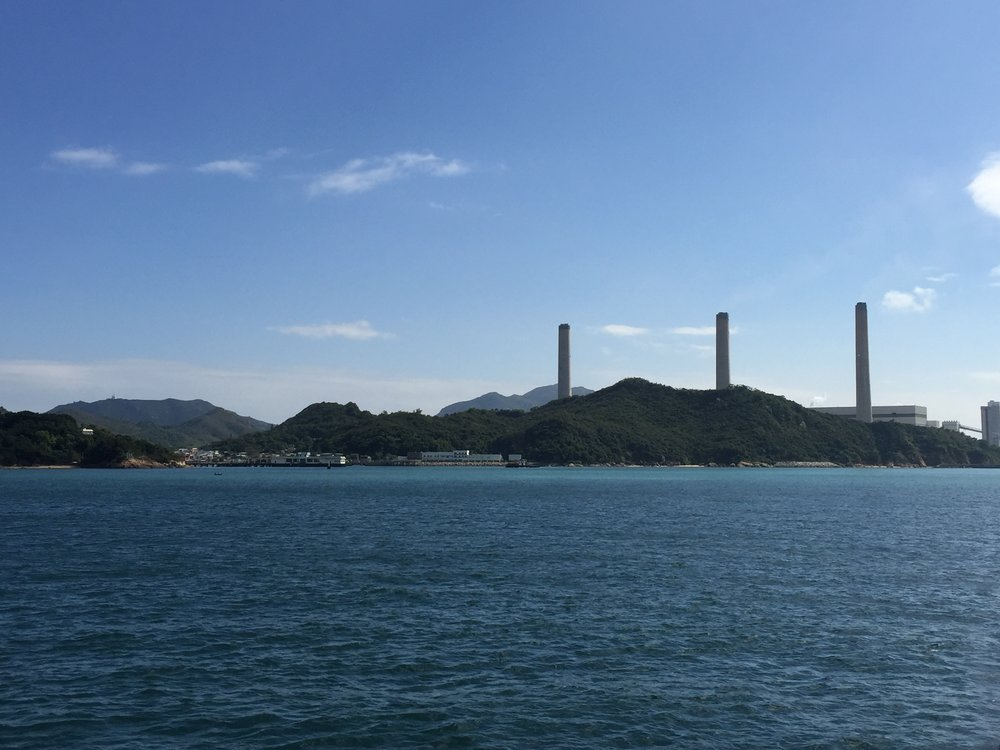 Lamma Island (and its power station)
