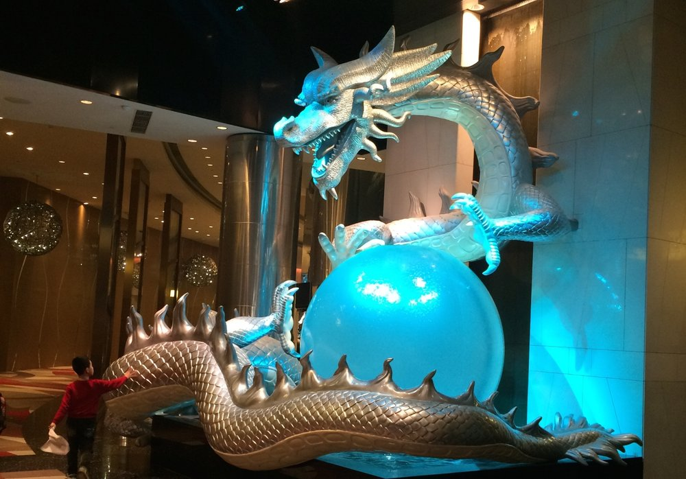 Dragon outside a Macau casino