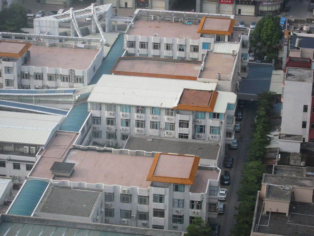 Shenzhen factories and dormitories for the workers