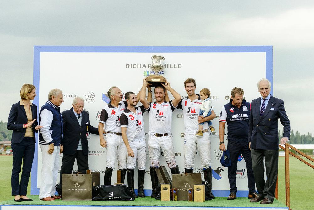 ....MARQUARD-MÉDIA LA VICTOIRE conserve son titre lors de la finale de l'Open de France 2016 .. MARQUARD-MÉDIA VICTOIRE retains title at 2016 French Open final ....