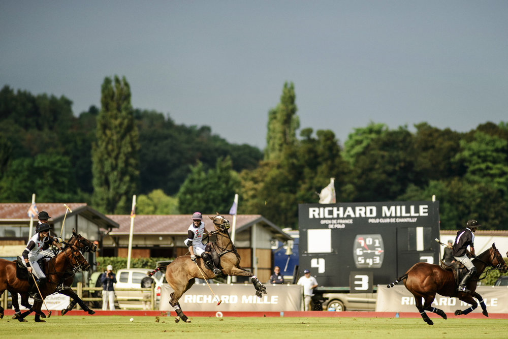 Match au Polo Club du Domaine de Chantilly / Richard Mille Chronométreur officiel Game at Chantilly Polo Club / Richard Mille Official Timekeeper