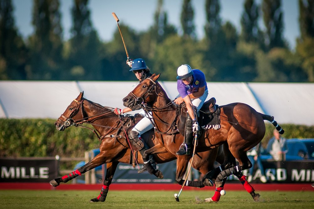 Joueurs en pleine action au Polo Club du Domaine de Chantilly Players in action at Chantilly Polo Club