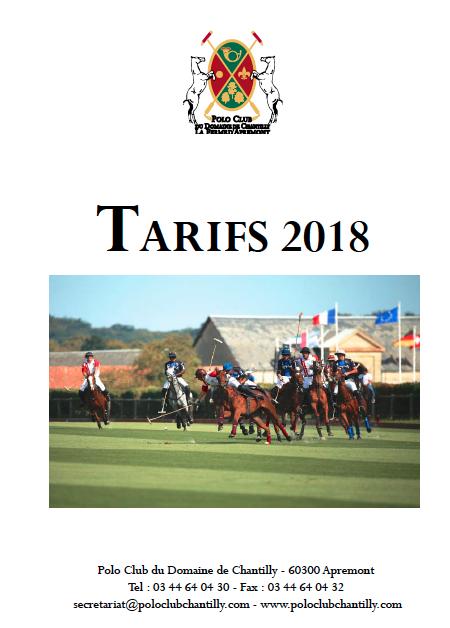 .... TARIFS SAISON 2018 .. FEES 2018. ...