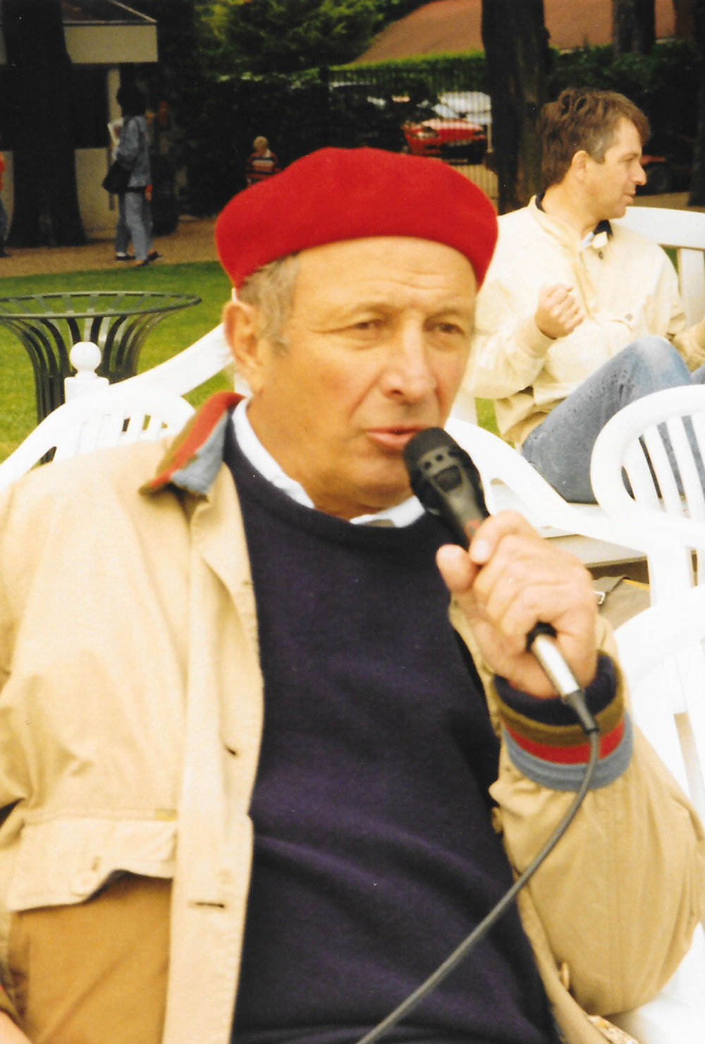 Roland Sadoun joueur et commentateur passionné lors d'un match de polo !