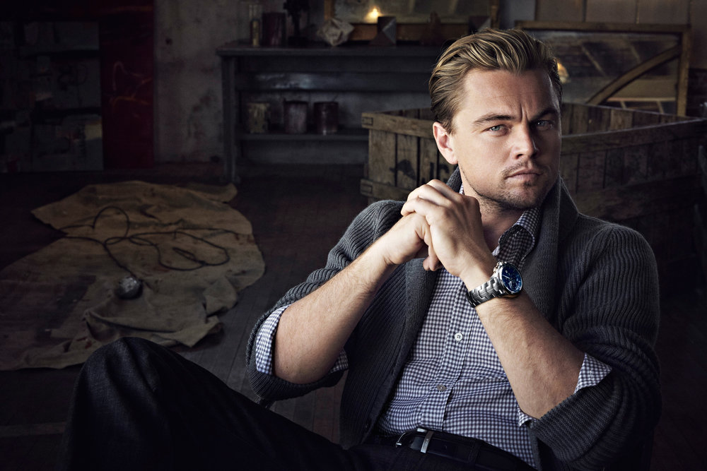 """Leonardo-DiCaprio-with-TAG-Heuer-Limited-Edition-""""Leonardo-Dicaprio""""-Link-Calibre-16-Chronograph1.jpg"""