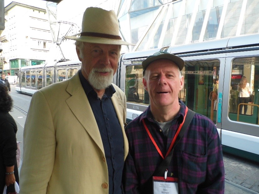 Seán with Professor Hans Reinders of the Amsterdam Free University.