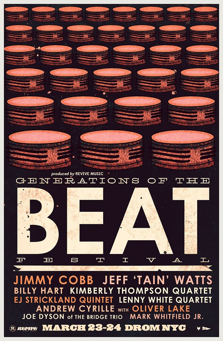 Poster Generations of the Beat Festival NYC with Billy Hart 2013