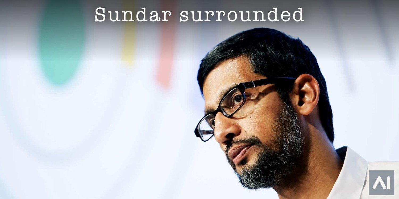 Sundar Pichai is Surrounded by Google Brain Researchers — 2019