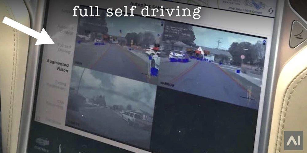 Tesla Full Self-Driving Images Leaked