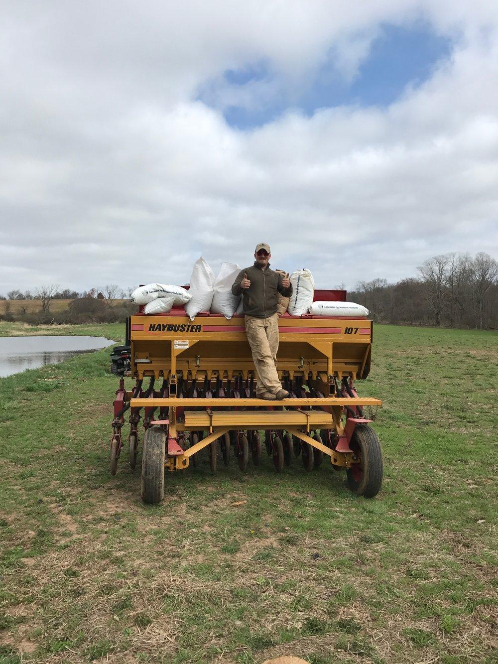 Pasture seeding