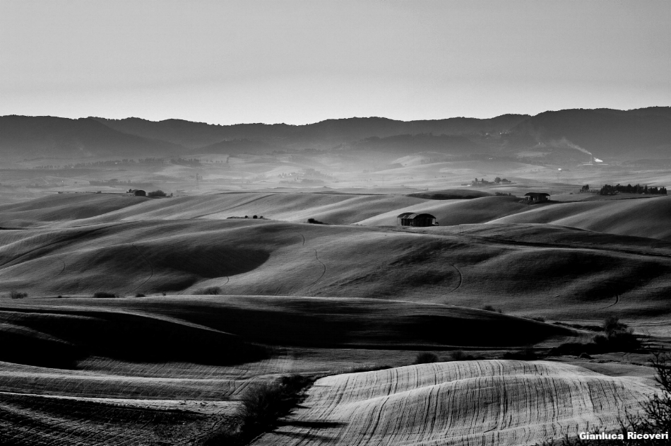 Tuscany's hills in B&W # 08