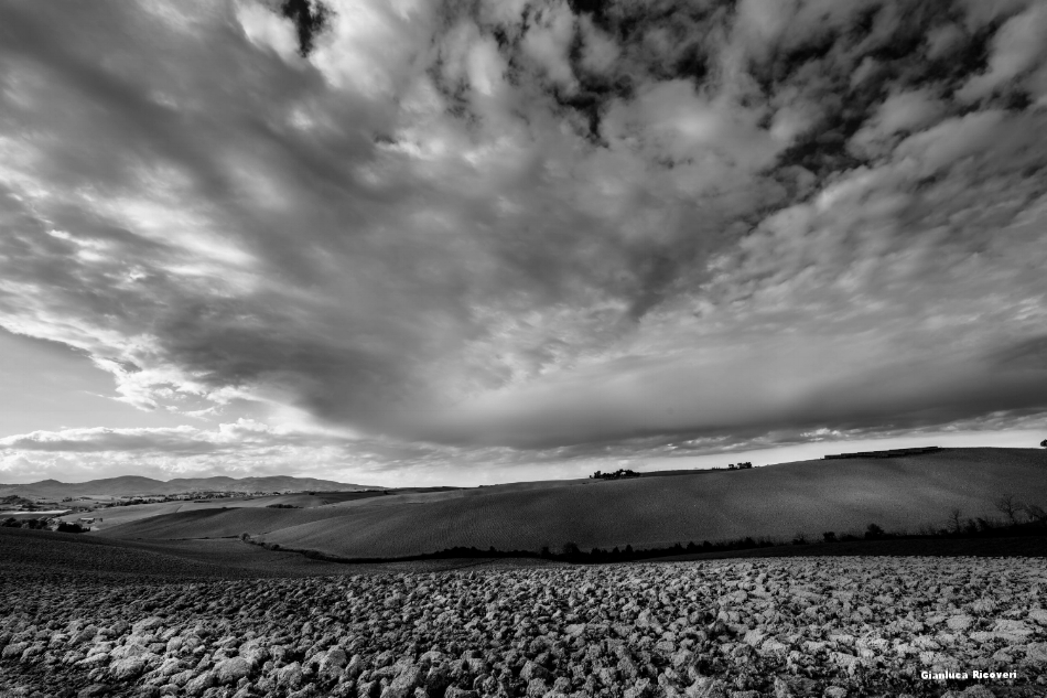 Tuscany's hills in B&W # 21