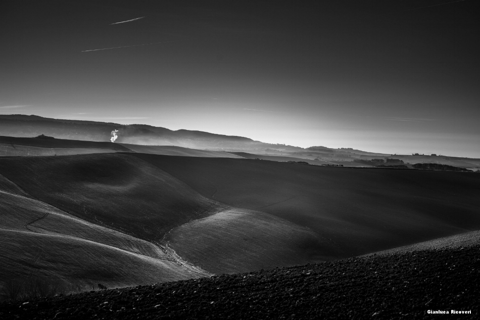 Tuscany's hills in B&W # 48