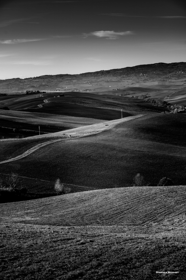 Tuscany's hills in B&W # 49
