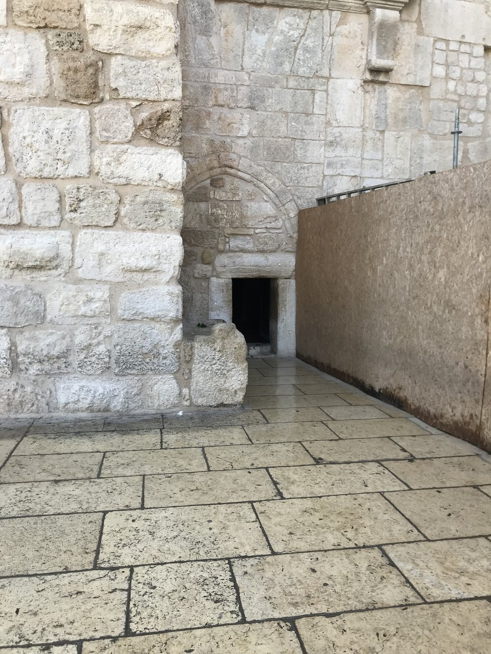 "The ""Door of Humility"", which was initially put in place to prevent horses from entering  is so small it forces everyone to bow to enter the Church of the Nativity"