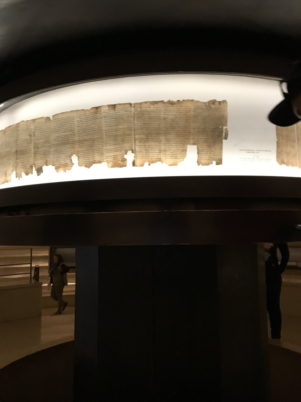 However, it was very special to see actual shards of the Dead Sea Scrolls