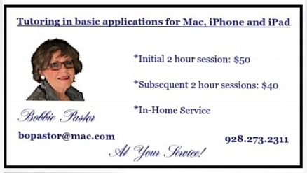 TUTORING/CONSULTING APPLE DEVICES