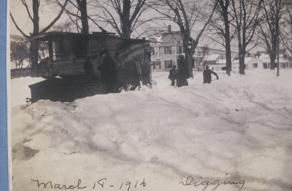 March 18, 1916  Digging out the Trolley Car